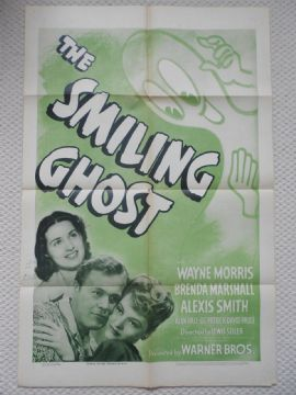 The Smiling Ghost, Original Movie Poster, Brenda Marshall, Wayne Morris, '42